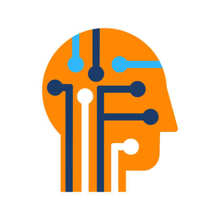 Intelligence, learning and innovation flat vector icon. Human brain power color pictogram Ilustrace