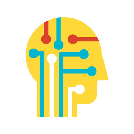 Intelligence, learning and innovation flat vector icon. Human brain power color pictogram Illustration