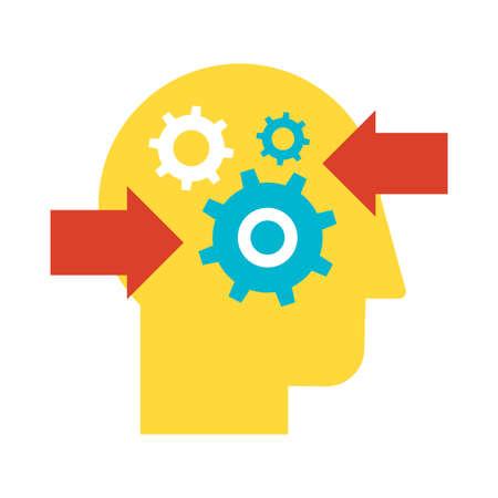 Icône de vecteur plat de prise de décision et d'analyse de problème. Pictogramme de couleur de planification de résolution