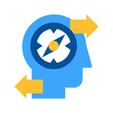 Finding creative solution flat vector isolated icon. Working out problem pictogram Illustration