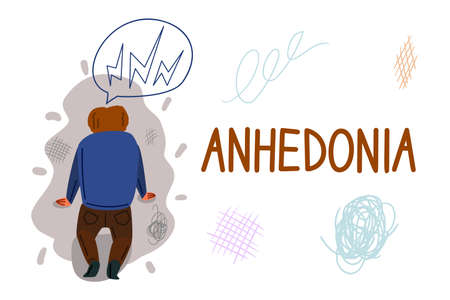 Anhedonia hand drawn banner vector template