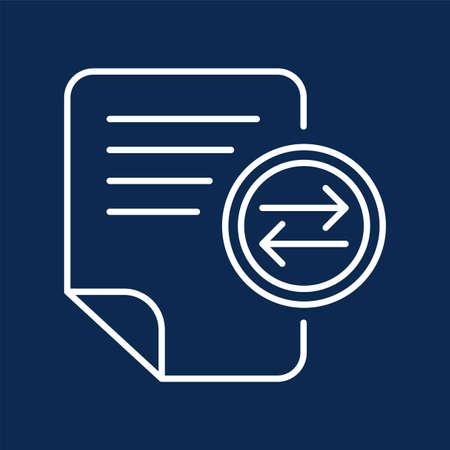 Text message sending monochrome linear icon. Notes exchange color thin line pictogram