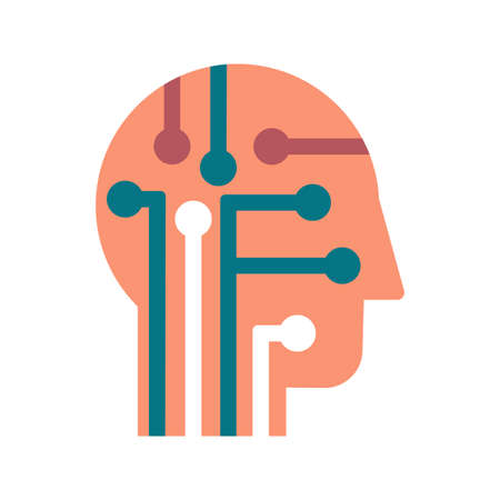 Intelligence, learning and innovation flat vector icon. Human brain power color pictogram