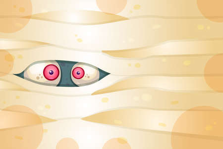 Spooky eyes flat vector illustration. Trick or treat, scary party. Halloween holiday celebration