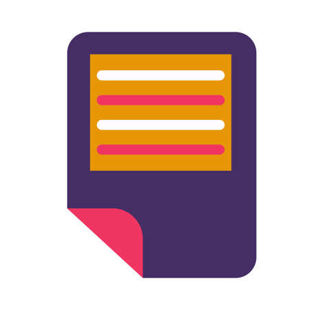 Electronic text document symbol glyph vector illustration. Files organization, doc, notepad icon 일러스트