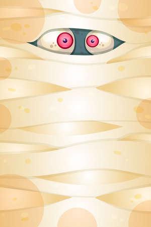 Spooky eyes flat illustration