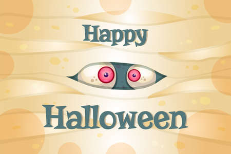 Happy Halloween vector postcard template. Traditional autumn holiday. Spooky party celebrations