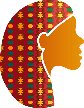 Indian Woman Face Silhouette Profile Icon Isolated. Eastern or India Female with Beautiful Traditional Ornament. Diversity and Feminism Concept, Vector Illustration Illusztráció