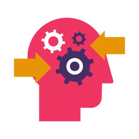 Decision making and problem analysis flat vector icon. Resolution planning color pictogram Illusztráció