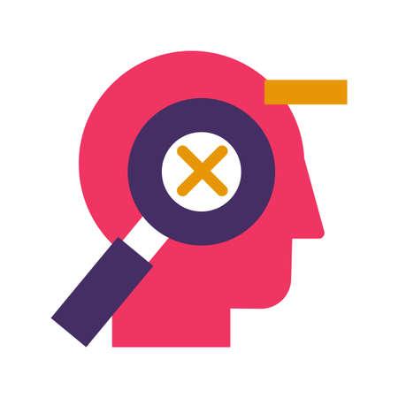 Mistakes correction flat vector pictogram on white background. Error control conceptual icon