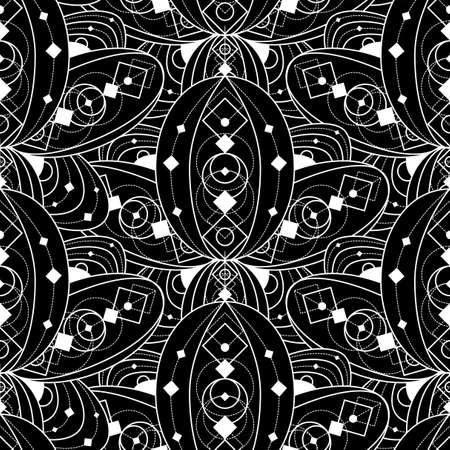 Seamless Pattern Vector. Modern Stylish Abstract Texture. Repeating Geometric Tiles Elements, Creative Decoration Vintage Background Design