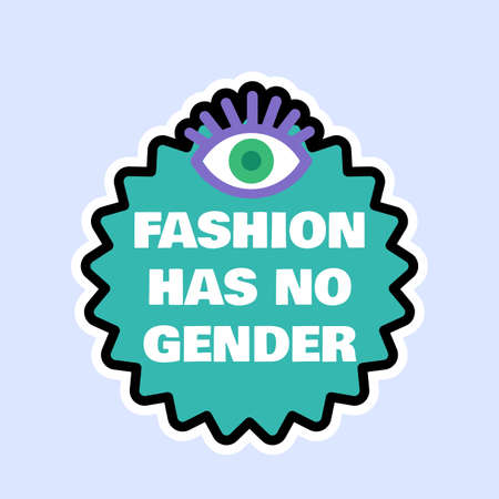 Gender equality at work and at home sticker. Label for prevention of female discrimination, sexual harassment and domestic aggression concept. Flat vector illustration