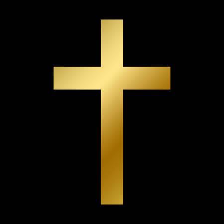 Latin cross symbol isolated christian bible sign