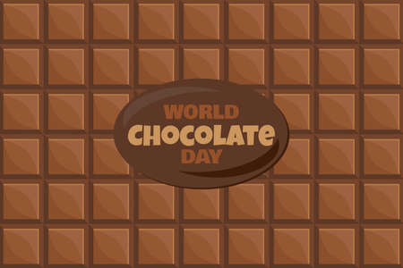 World Chocolate Day Banners With Text And Tasty Dessert Background. 일러스트