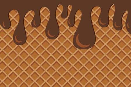 World Chocolate Day Banner. Tasty Dessert Background. Vector