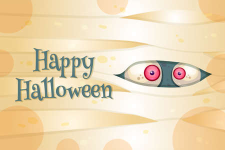 Happy Halloween vector postcard template Illustration