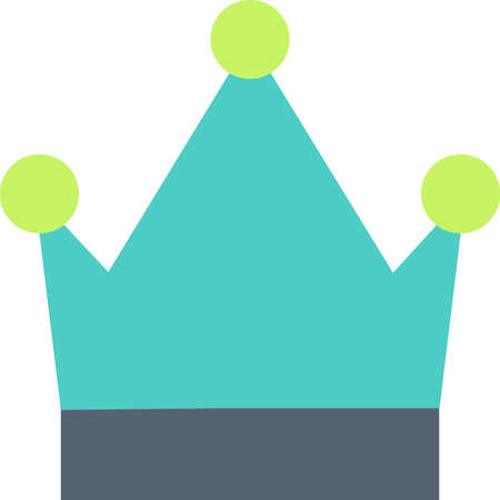 Crown flat icon 일러스트