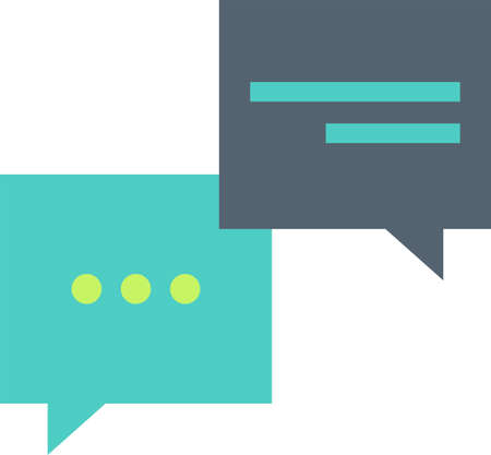 Speech bubbles flat vector icon