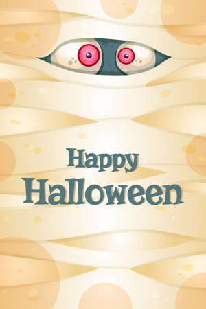 Happy Halloween greeting card vector template. 일러스트