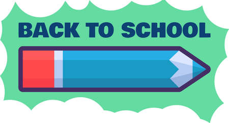 Back to school poster design template. 일러스트
