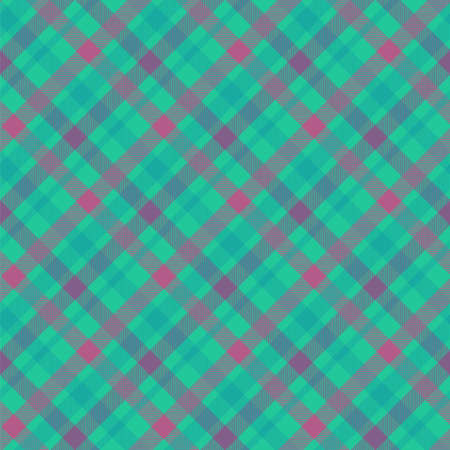 Tartan color seamless vector pattern. Plaid fabric texture. Checkered blue textile background