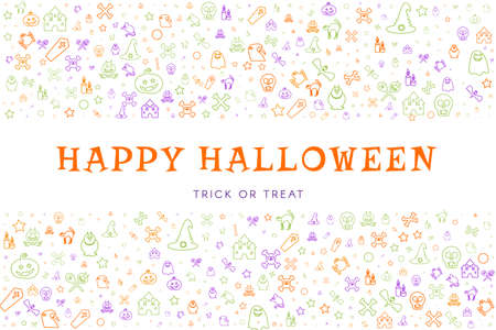 Halloween greeting card, banner or poster template Ilustracja