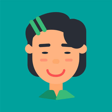 Asian female avatar, woman icon for network
