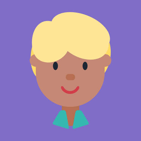 Mix race male avatar, icon of blond ethnic man