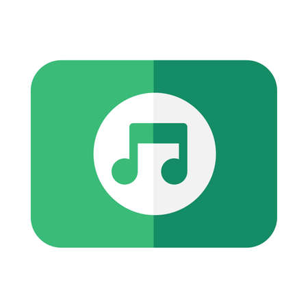 Musical notation flat vector icon. Pitch and sound duration. Music and instrument. Melody symbol