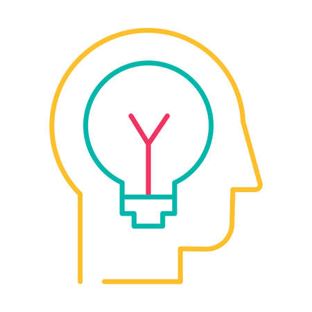 Idea generation and innovation thin line vector icon. Developing new concepts outline pictogram