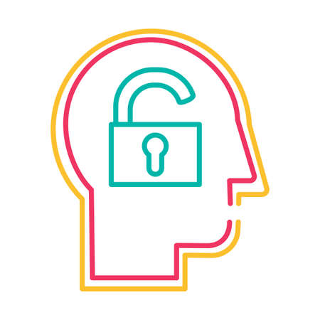 Extrovert personality type thin line vector icon. Human mind psychology conceptual outline pictogram