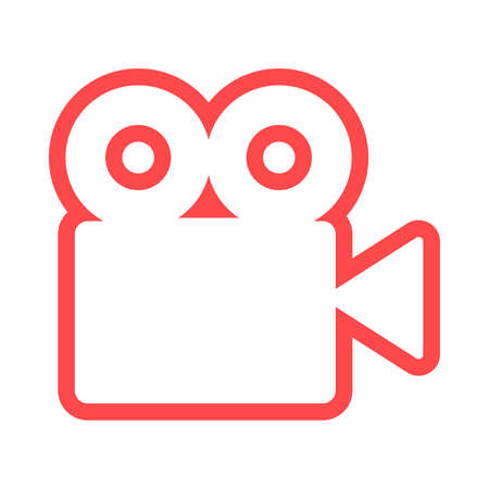 Video camera silhouette square icon 스톡 콘텐츠 - 163931635