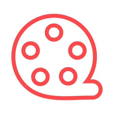 Retro filmstrip color icon Ilustracja