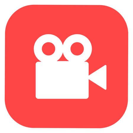 Video camera silhouette square icon