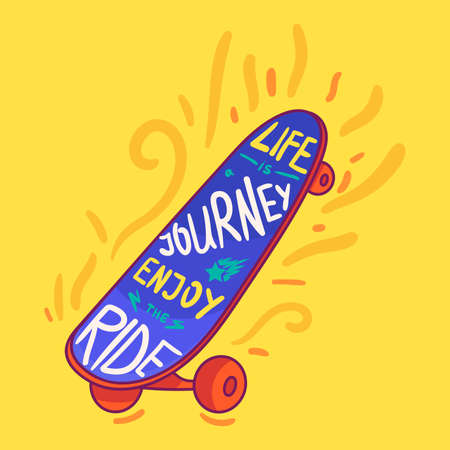 Life is journey hand drawn typography poster