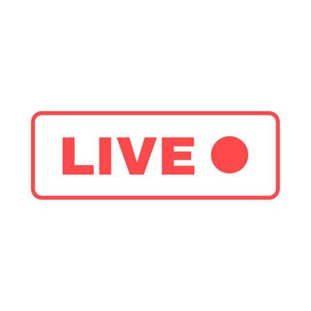 Social live stream silhouette icon