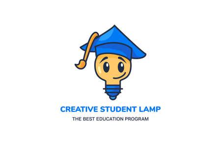 Creative student lamp educate program vector Illusztráció