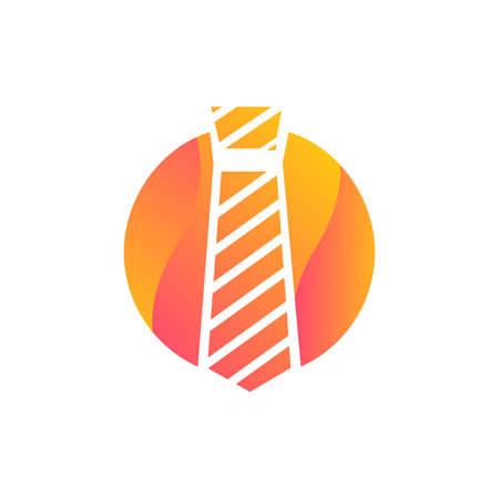 Tie businessman clothing accessory icon vector