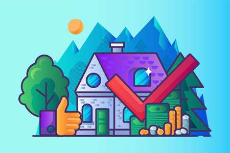Profitable real estate business vector cartoon infographics