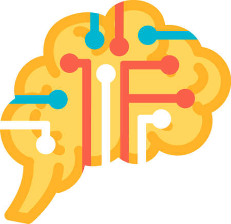 Function introspection of human brain icon vector. Examination of own conscious thought and feeling mind functional. Anatomy intellectual organ. Evaluation and awareness Contour illustration