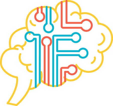 Function intelligence of human brain icon vector. Intellect think and brainstorm mind functional. Anatomy intellectual organ. Inspiration for education for wisdom and knowledge contour illustration