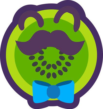 Kiwi tropical fruit emoji happy emotion vector Illusztráció