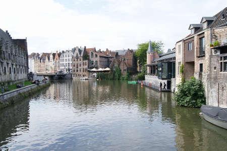 Beatiful Channel in Gent, Belgium Stock Photo