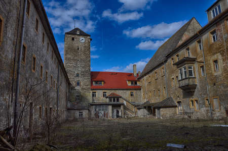 courtyard abandoned in prison for political prisoners in Germany