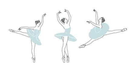 Three figures of dancing ballerinas.