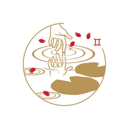 Zodiac circle symbol. Gemini.