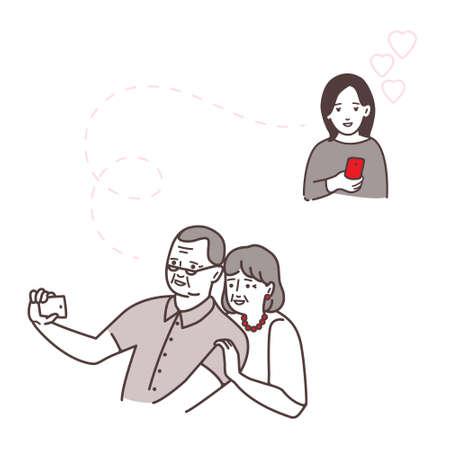 Relaciones mutuas de padres e hijos. Vectores