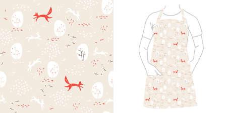 Bos naadloos patroon met dieren.
