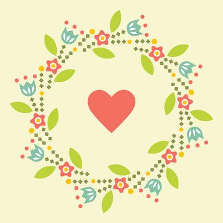 Valentine s day greeting card. Symbol of love. Vector illustration flat design