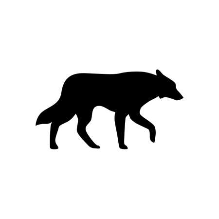 Wolf icon illustration isolated vector sign symbol Standard-Bild - 97521485